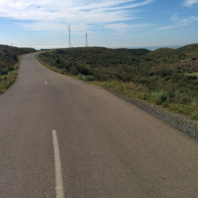Ruta carretera distancia corta, Cuevas Los Medinas. #ciclismo-almeria#